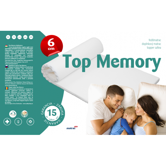 Top Memory Fedőmatrac - 160x200 cm